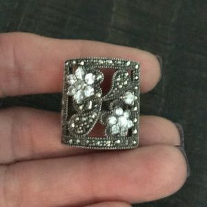 Jewelry - Vintage Sterling Silver Marcasite Ring Size 7